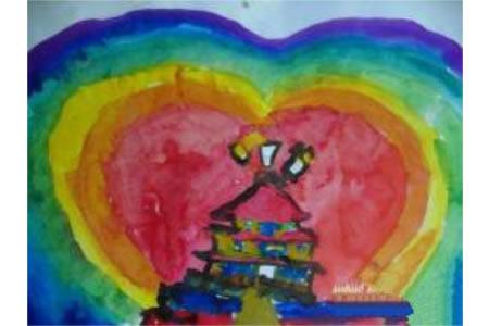 国庆节主题儿童画-我的中国心