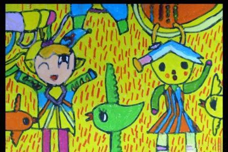 端午节儿童画图片-端午吃粽子