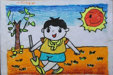 我们的节日儿童画-今天你劳动了吗