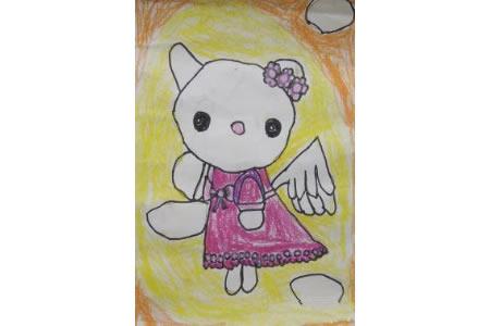 儿童漫画 爱美的hello kitty