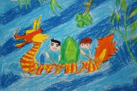端午节送粽子关于端午节的画作品欣赏