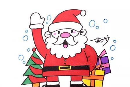 圣诞老人的简笔画图片