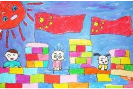 十一国庆节儿童画-乐享国庆节