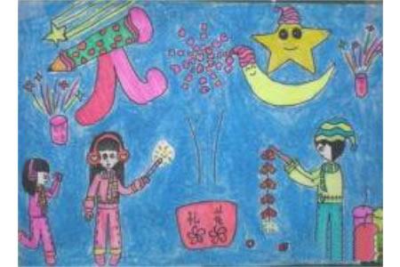 少年儿童有创意的元旦儿童画画作品