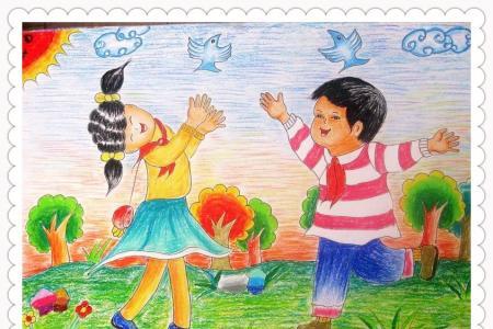 快乐劳动节儿童画(图组13P)