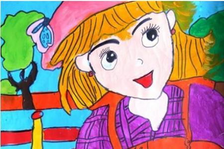 快乐的小花匠庆祝五一爱劳动绘画图片欣赏