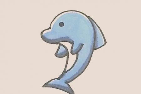 简笔画之海豚