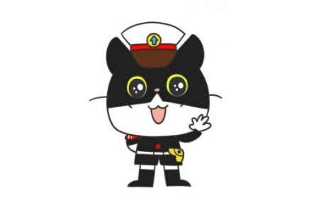 黑猫警长简笔画教程