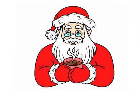 圣诞老人简笔画「彩色」