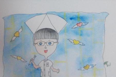 我的护士妈妈儿童画妇女节图画分享