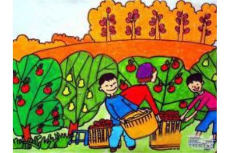 丰收的喜悦,有关于秋天的儿童画