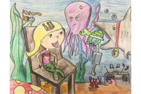 美人鱼小公主海底世界绘画作品欣赏