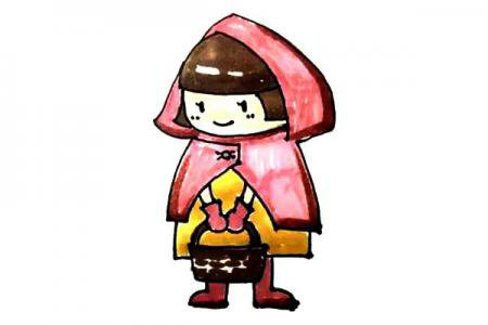 轻松学画小红帽