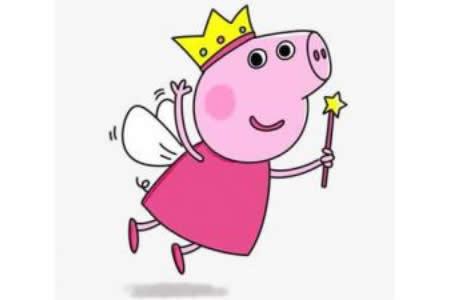 简笔画教程 粉红猪小妹简笔画步骤图
