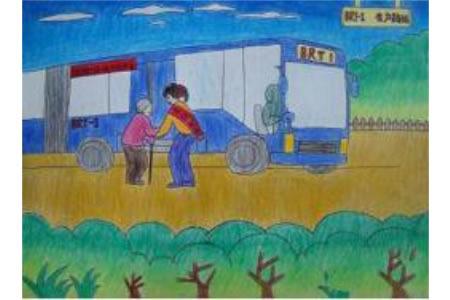 青年志愿者学雷锋主题活动绘画