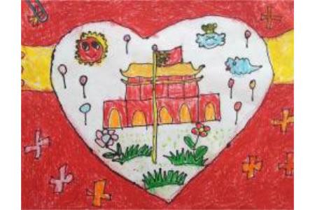 我心目中美丽的祖国,国庆节题材儿童画作品