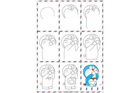 关于哆啦A梦的简笔画教程