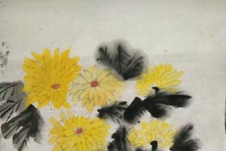 重阳节赏菊国画菊花作品欣赏