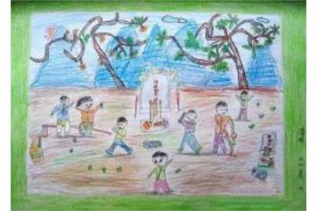 幼儿园大班优秀的清明节儿童画作品欣赏