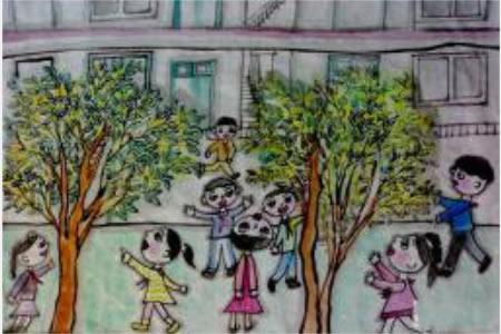 植树节儿童画-我植树,我快乐