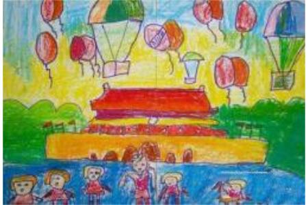 国庆节主题儿童画大全-欢庆国庆节