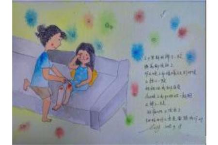 妇女节水彩画作品之和妈妈在一起的时光