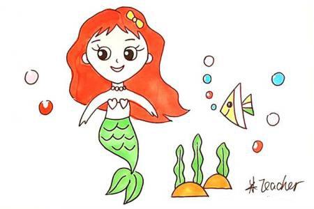 美人鱼简笔画怎么画