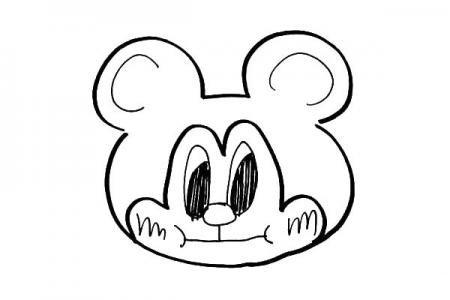 一支笔就能搞定的可爱简笔画米老鼠