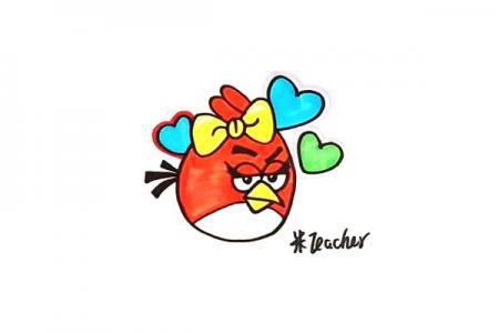 怎么画愤怒的小鸟
