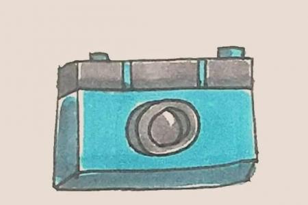 简笔画之照相机
