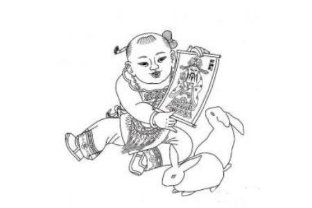 春节年画简笔画