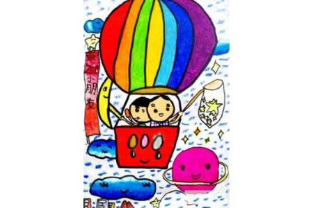 我为祖国庆生,国庆节儿童画作品欣赏