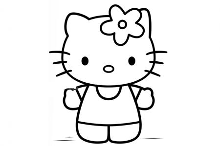 戴着小花的kitty猫