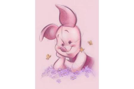 小猪皮杰卡通彩铅画作品赏析