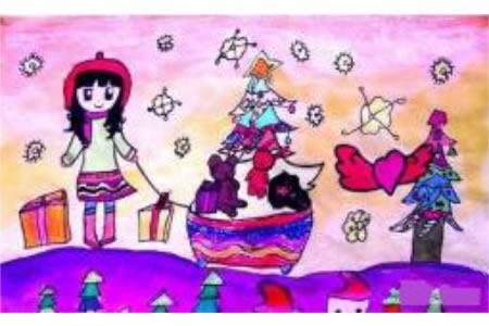 圣诞节儿童画 我的圣诞节礼物