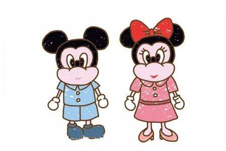 米奇和米妮简笔画图片