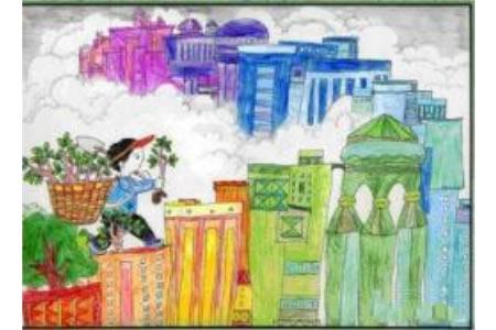 植树节的快乐四年级植树节画画图片