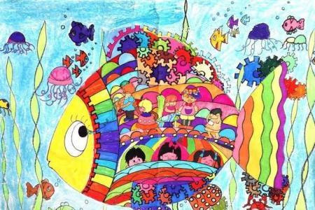 奇妙的海底世界 惬意的海底生活