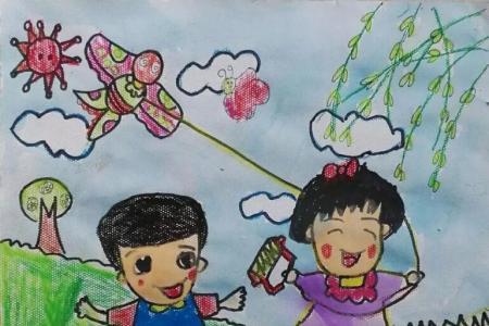 放风筝过清明节有关于清明节的图画欣赏