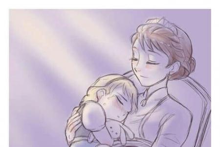 温馨的时光母亲节卡通画作品分享