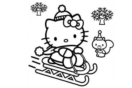 滑雪橇的kitty猫