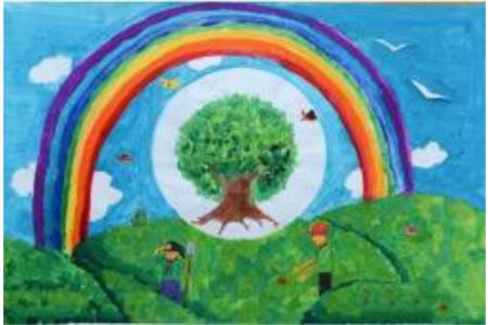 保护环境多种树植树节儿童画作品分享