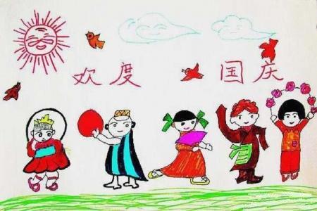 幼儿欢度国庆儿童画作品