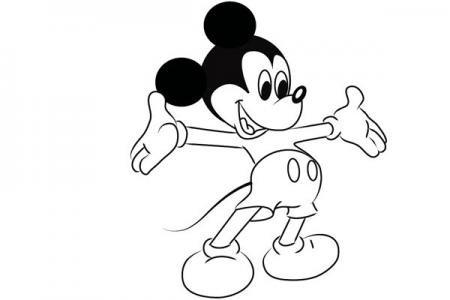 米奇老鼠简笔画怎么画
