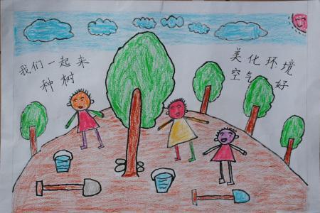快乐的节日儿童画-我来劳动