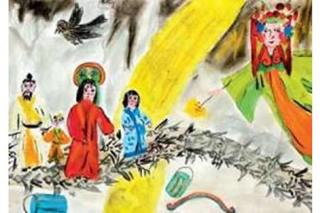 七夕主题儿童画作品大全-外国人眼中的情人节