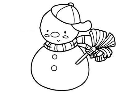 帅气的雪人简笔画