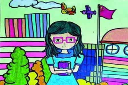 教师节我的老师主题儿童画图片