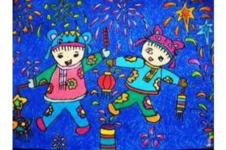 2017正月十五闹元宵儿童画绘画