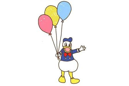 拿着气球的唐老鸭